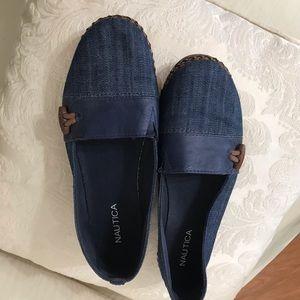 Náutica shoes size 7.5 denim slide on